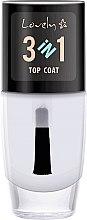 Profumi e cosmetici Top Coat - Lovely Top Coat 3in1