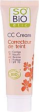 Profumi e cosmetici CC-Crema, 5in1 SPF 10 - So'Bio Etic CC Cream