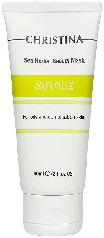Maschera di bellezza alla mela per pelli grasse e miste - Christina Sea Herbal Beauty Mask Green Apple