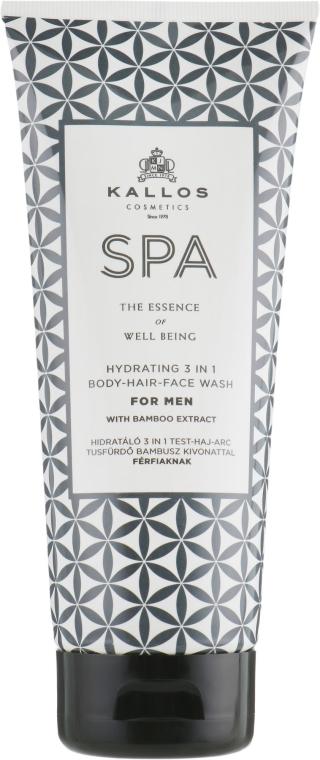 Shampoo-gel doccia 3in1 per uomo - Kallos Cosmetics Spa Hydrating 3in1 Body-Hair-Face Wash For Men