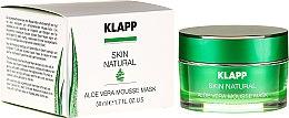 Profumi e cosmetici Maschera lenitiva all'aloe vera - Klapp Skin Natural Aloe Vera Mousse Mask