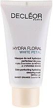Maschera emolliente per viso - Decleor Hydra Floral White Petal Skin Perfecting Hydrating Sleeping Mask — foto N1