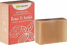 Profumi e cosmetici Sapone con burro di karité e oli di rose - La Saponaria Rose & Shea Butter Soap
