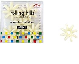 Profumi e cosmetici Elastico per capelli, beige - Rolling Hills Traceless Hair Rings Mini Beige