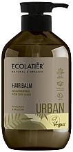 """Profumi e cosmetici Balsamo nutriente per capelli secchi """"Avocado e malva"""" - Ecolatier Urban Hair Balm"""