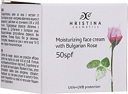 Profumi e cosmetici Crema viso idratante SPF50 - Hristina Cosmetics Moisturizing Face Cream With Bulgarian Rose SPF50