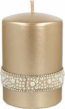 Profumi e cosmetici Candela decorativa dorata, 7x10cm - Artman Crystal Opal Pearl