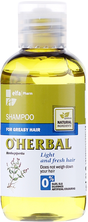 Shampoo per capelli grassi all'estratto di menta - O'Herbal
