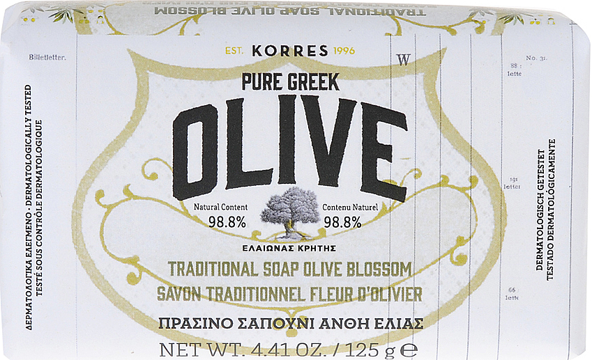 Sapone tradizionale all'olio d'oliva - Korres Pure Greek Olive Green Soap Olive Blossom