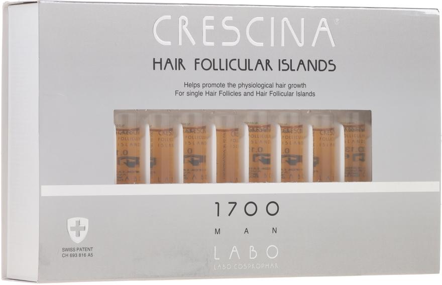 Lozione stimolante per la crescita dei capelli, per uomo 1700 - Crescina Hair Follicular Islands Re-Growth 1700