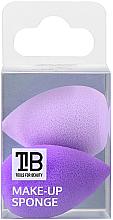 Profumi e cosmetici Mini spugnette per trucco, 2 pz - Tools For Beauty Mini Concealer Makeup Sponge Purple