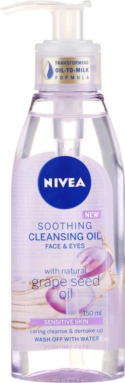 Olio detergente per pelli sensibili - Nivea Cleansing Oil Soothing Grape Seed