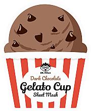 Profumi e cosmetici Maschera viso in tessuto - Dr. Mola Dark Chocolate Gelato Cup Sheet Mask