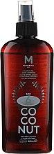 Profumi e cosmetici Olio solare - Mediterraneo Sun Coconut Suntan Oil Dark Tanning SPF6