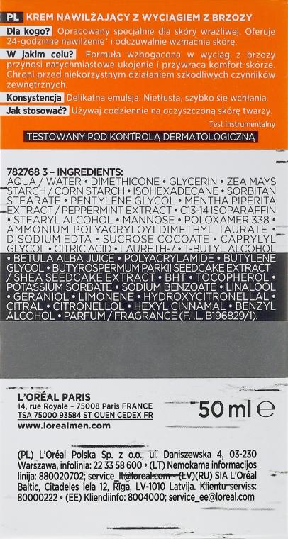 Crema viso idratante con estratto di betulla per pelli sensibili, uomo 25+ - L'Oréal Paris Men Expert Hydra Sensitive 25+ — foto N6