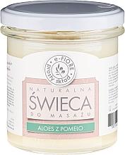 """Profumi e cosmetici Candela profumata per massaggio """"Aloe e Pomelo"""" - E-Fiore Massage Candle"""