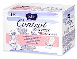Profumi e cosmetici Assorbenti per incontinenza, per donne, 18 pz - Bella Control Discreet Micro Bladder Control Pads
