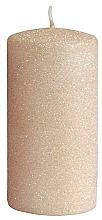 Profumi e cosmetici Candela decorativa, oro rosa, 7x14 cm - Artman Glamour