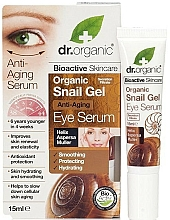 Profumi e cosmetici Siero-gel contorno occhi alla bava di lumaca antietà - Dr. Organic Bioactive Skincare Anti-Aging Snail Gel Eye Serum