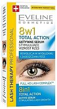 Profumi e cosmetici Siero per ciglia 8 in 1 - Eveline Cosmetics Eyelash Serum Total Action 8in1