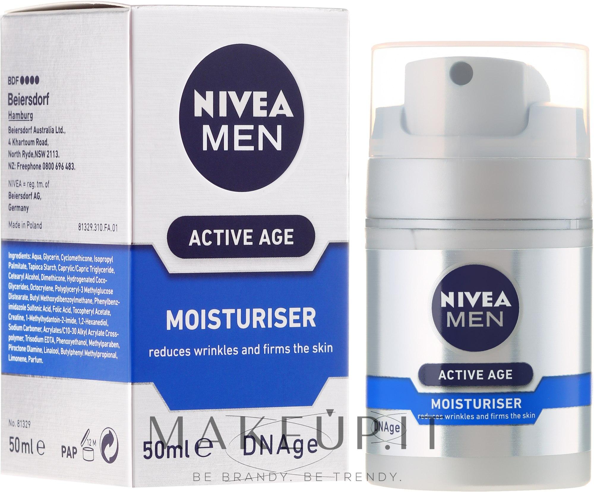 Nivea For Men Aktive Age Moisturiser Cream - Crema viso..