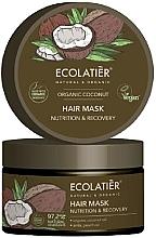 """Profumi e cosmetici Maschera per capelli """"Nutrizione e recupero"""" - Ecolatier Organic Coconut Hair Mask"""
