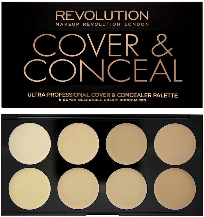 Concealer viso - Makeup Revolution Ultra Cover and Conceal Palette