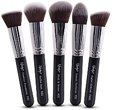 Profumi e cosmetici Set pennelli - Nanshy Face Brush Set Black (Brush/5pz)