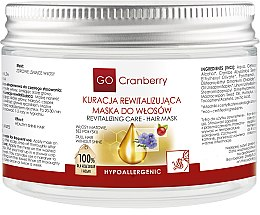 Profumi e cosmetici Maschera per capelli opachi - GoCranberry Revitalizing Hair Mask