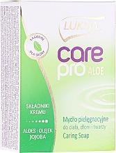 "Profumi e cosmetici Sapone ""Aloe e Jojoba"" - Luksja Care Pro Aloe & Jojoba Cream Soap"
