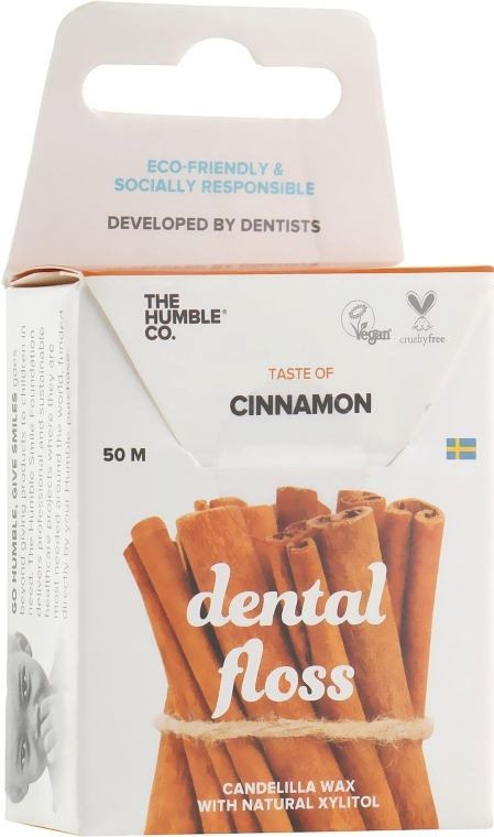 "Filo interdentale ""Cannella"" - The Humble Co. Dental Floss Cinnamon"