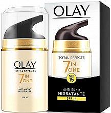 Profumi e cosmetici Crema idratante da giorno SPF15 - Olay Total Effects Anti-Edad Hidratante SPF15