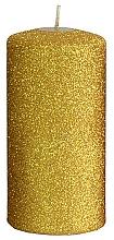 Profumi e cosmetici Candela decorativa, oro, 7x14 cm - Artman Glamour