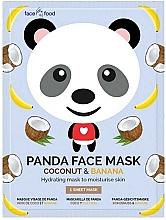 """Profumi e cosmetici Maschera in tessuto con estratto di banana e cocco """"Panda"""" - 7th Heaven Face Food Panda Face Mask Coconut & Banana"""
