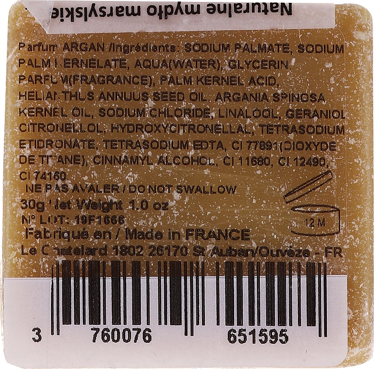 """Sapone di Marsiglia """"Olio di Argan"""" - Le Chatelard 1802 Soap Savon De Marseille Huile Argan — foto N2"""