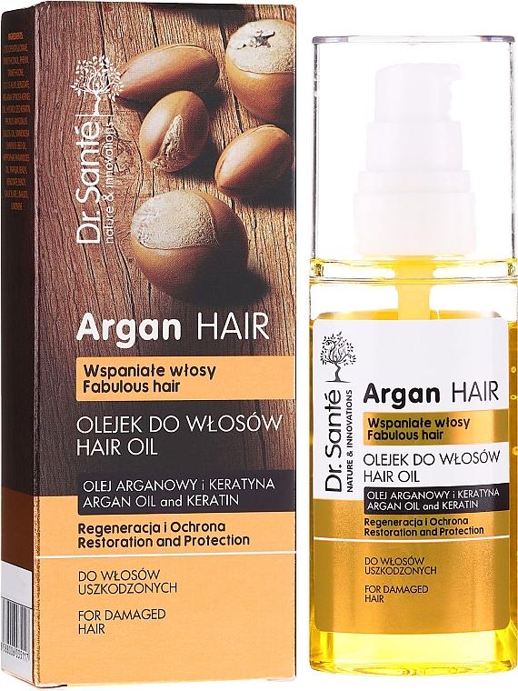 Olio per capelli all'olio di argan e cheratina - Dr. Sante Argan Hair