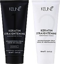 Profumi e cosmetici Sistema curativo di stiratura alla cheratina - Keune Keratin Straightening Rebonding System Normal