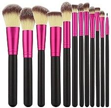 Profumi e cosmetici Set di pennelli professionali per trucco, 12 pezzi, rosa con il nero - Tools For Beauty