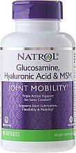 "Profumi e cosmetici Complesso ""Acido ialuronico MCM e glucosamina"", 90 compresse - Natrol Glucosamine Hyaluronic Acid & MSM"