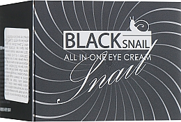 Profumi e cosmetici Crema contorno occhi alla bava di lumaca nera - FarmStay All-In-One Black Snail Eye Cream