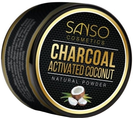 Polvere naturale sbiancante denti - Sanso Cosmetics Charcoal Activated Coconut Natural Powder