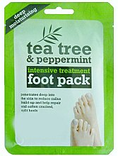 "Profumi e cosmetici Maschera-calze piedi ""Tea tree e menta piperita"" - Xpel Marketing Ltd Tea Tree & Peppermint Deep Moisturising Foot Pack"