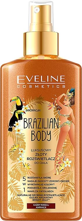 "Spray corpo ""Lussuoso corpo dorato"" - Eveline Cosmetics Brazilian Body Luxury Golden Body"