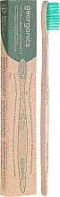 Profumi e cosmetici Spazzolino da denti di bambù - Georganics Bamboo Medium Toothbrush Green