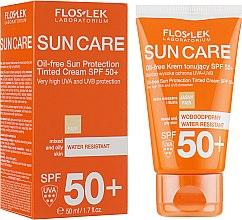 Profumi e cosmetici Crema solare colorata per pelle mista e grassa SPF 50 - Floslek Sun Protection Cream SPF50+