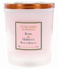 "Profumi e cosmetici Candela profumata ""Rosa e ibisco"" - Collines de Provence Candle Rose & Hibiscus"