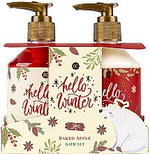 Profumi e cosmetici Set - Accentra Hello Winter Baked Apple Bath Set (sh/gel/250ml + lot/250ml)