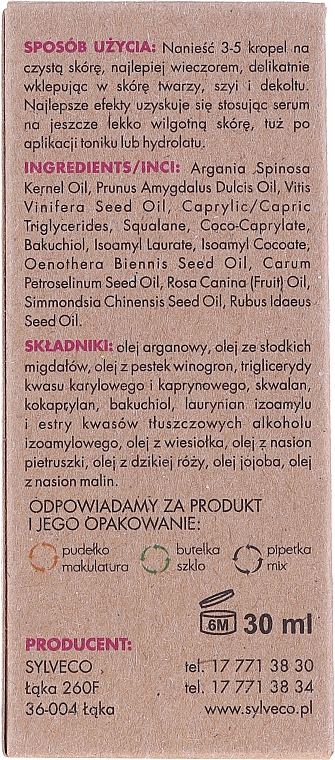 Siero viso levigante - Sylveco Smoothing Serum — foto N3