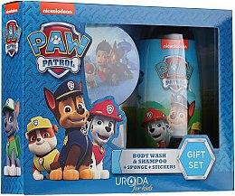 Profumi e cosmetici Set - Uroda Paw Patrol Boy (sh/gel/250ml + sponge + stickers)