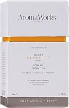 Profumi e cosmetici Olio corpo - AromaWorks Serenity Body Oil